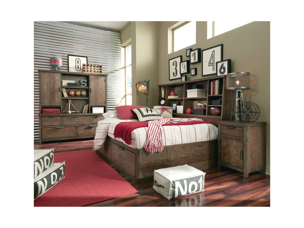 Legacy Classic Kids Fulton CountyTwin Bookcase Lounge Bed
