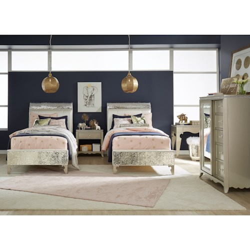 Legacy Classic Kids Glitz and Glam Twin Bedroom Group
