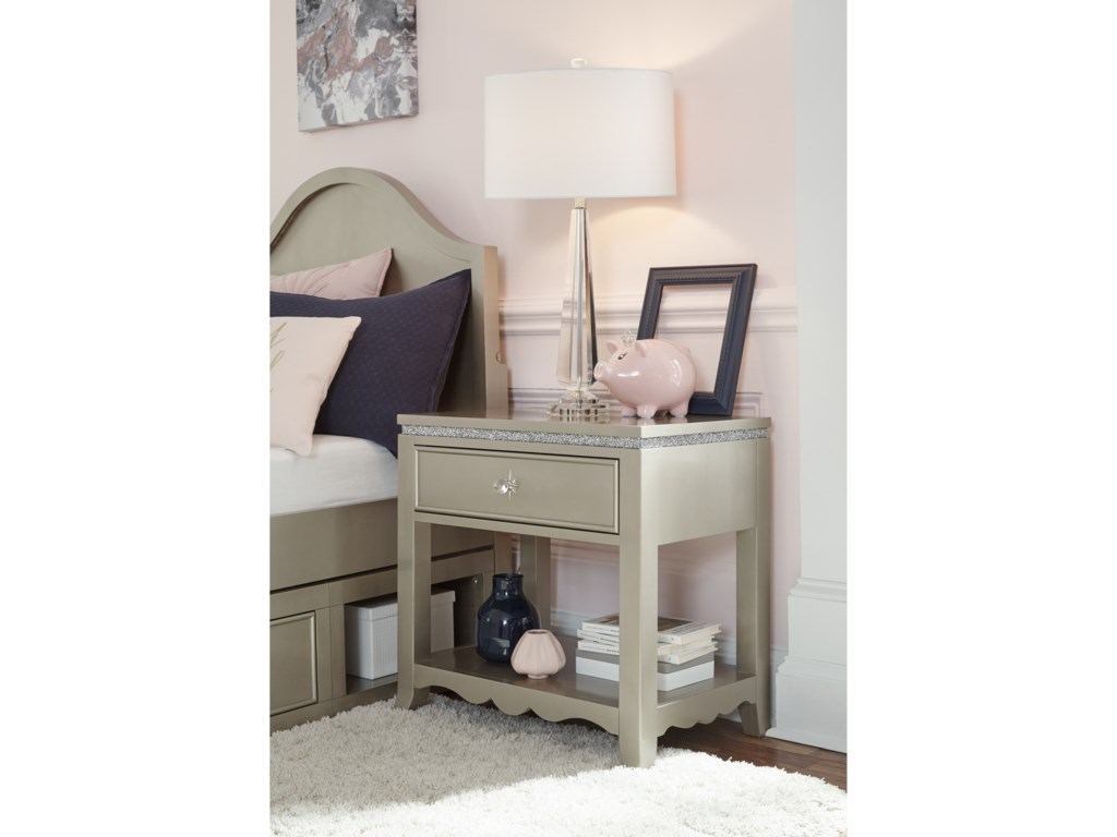 Legacy Classic Kids Glitz and GlamNightstand with USB Port