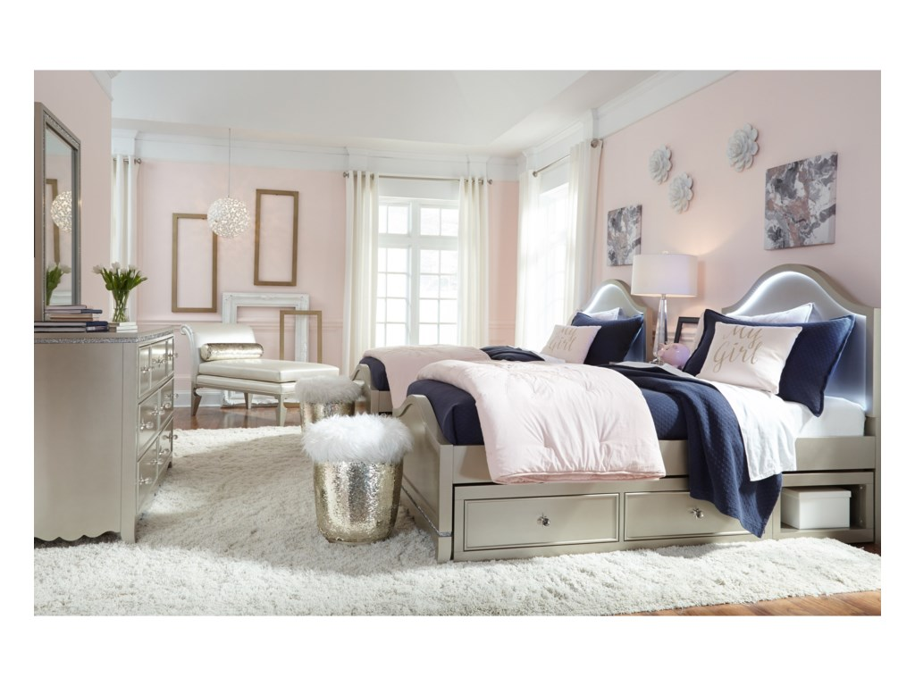 Legacy Classic Kids Glitz and GlamFull Panel Bed