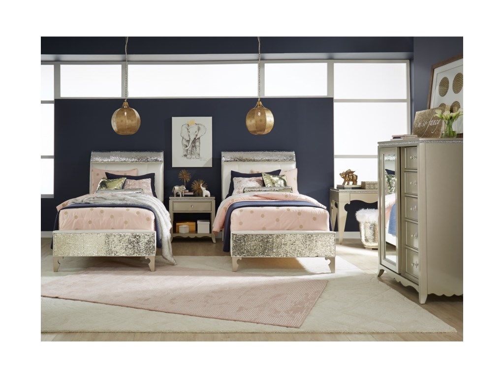 Legacy Classic Kids Glitz and GlamTwin Upholstered Bed