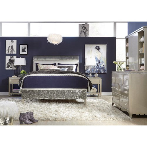 Legacy Classic Kids Glitz and Glam Queen Bedroom Group