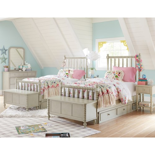 Legacy Classic Kids Grace Cottage Panel Full Bed with Underbed Storage Unit