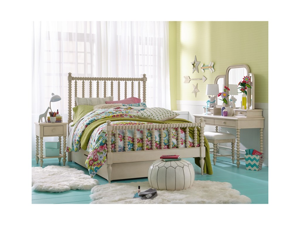 Legacy Clic Kids Grace Cottage Panel Twin Bed With Low Profile Trundle