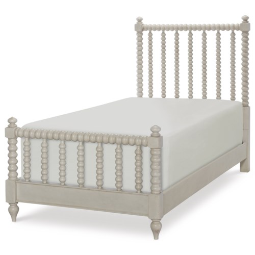 Legacy Classic Kids Grace Cottage Panel Twin Bed With Turned Spindle