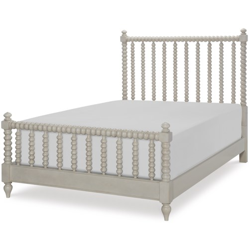 Legacy Classic Kids Grace Cottage Panel Full Bed with Turned Spindle Posts