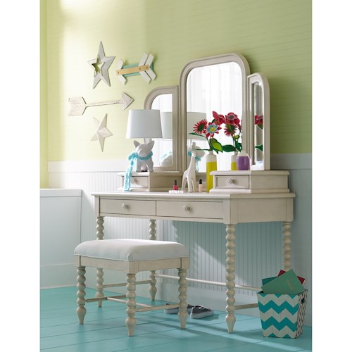Legacy Classic Kids Grace Cottage Vanity with Turned Spindle Posts