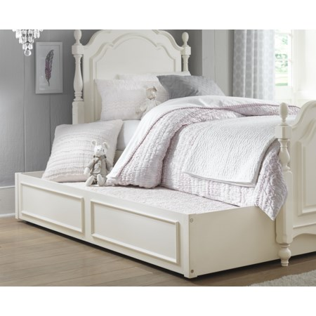 Summerset Low Poster Twin Bed with Trundle