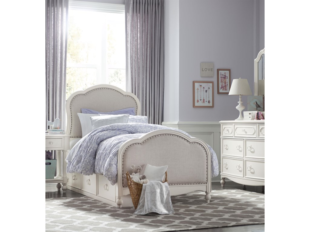 Legacy Classic Kids HarmonyVictoria Upholstered Panel Twin Bed