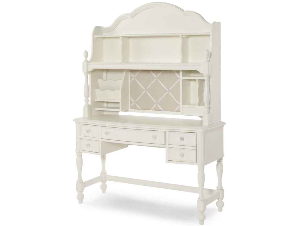 Legacy Classic Kids Harmony Desk And Hutch With 3 Way Touch Light
