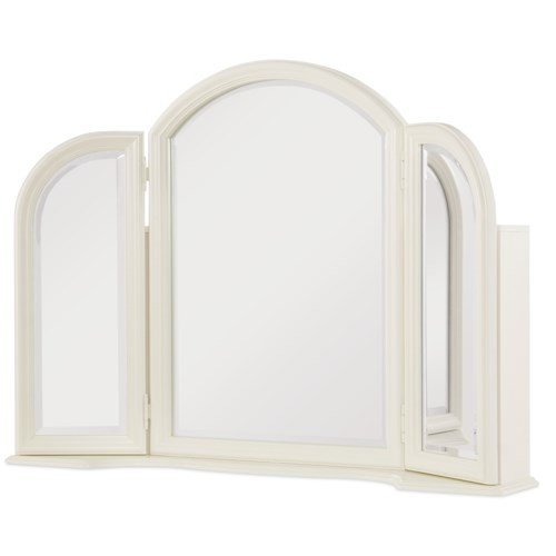 Legacy Classic Kids Harmony Vanity Mirror with 3 Shelves in Each Door