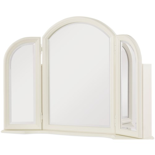 Legacy Classic Kids Harmony Vanity Mirror with 3 Shelves in Each Door