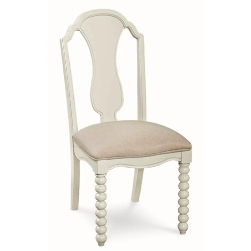 Legacy Classic Kids Inspirations by Wendy Bellissimo Boutique Side Chair with Upholstered Seat and Bobbin Legs