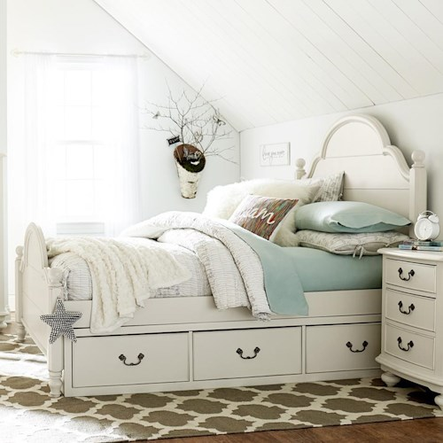 Legacy Classic Kids Inspirations by Wendy Bellissimo Full Westport Low Poster Bed with Two-Sided Underbed Storage