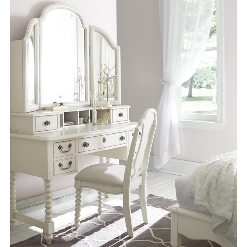 Legacy Classic Kids Inspirations by Wendy Bellissimo 3 Drawer Boutique Desk with Vanity Mirror