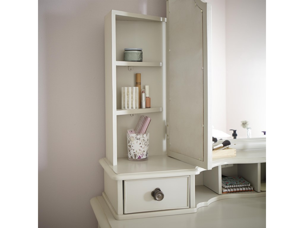 Mirror Sides Open To Reveal Extra Storage