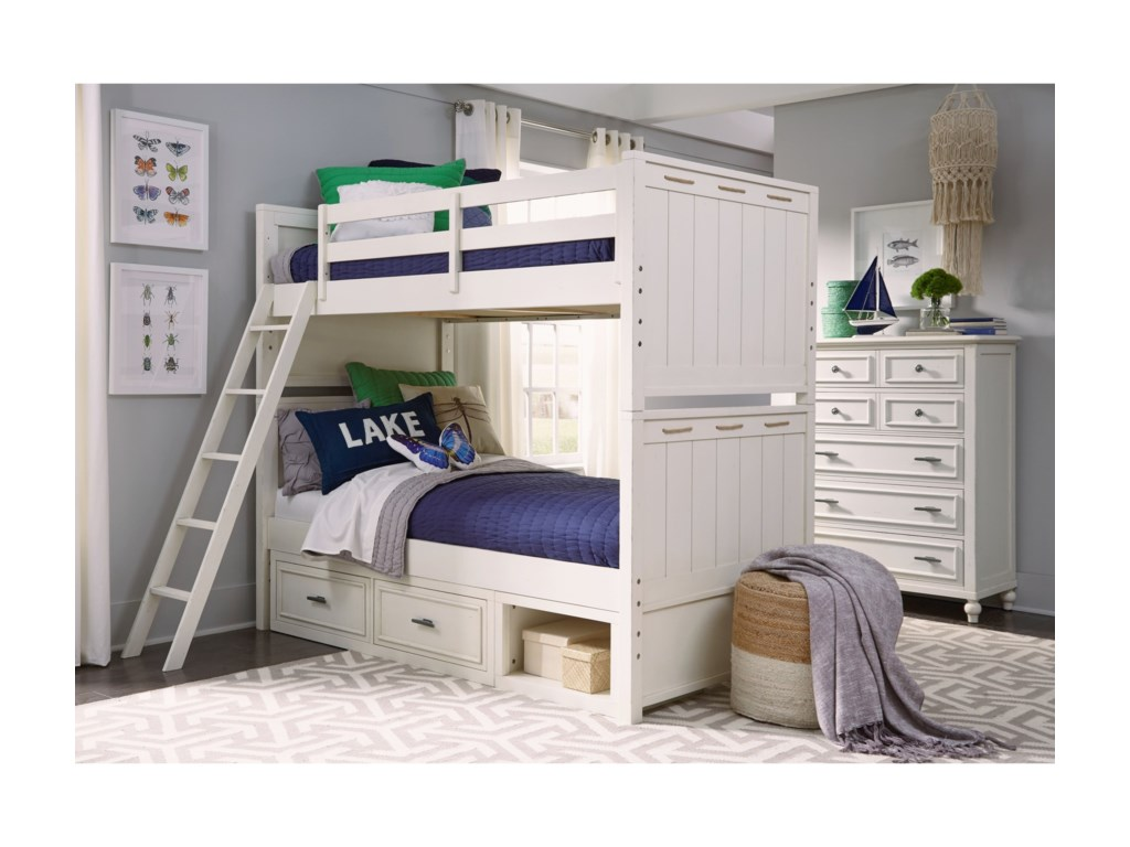 Legacy Classic Kids Lake HouseTwin-over-Twin Bunk Bedroom Group