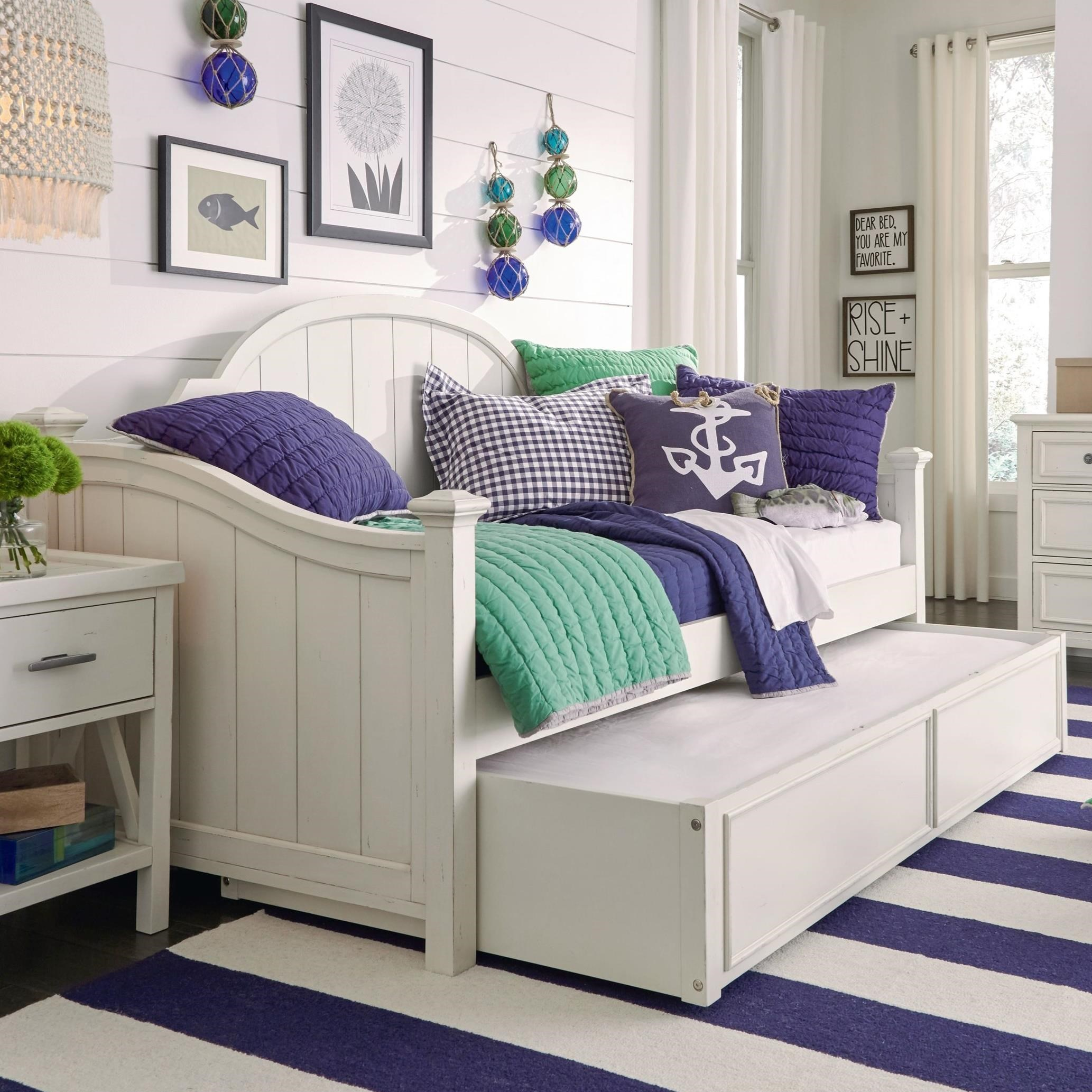 Picture of: Legacy Classic Kids Lake House Transitional Daybed With Trundle Wayside Furniture Daybeds