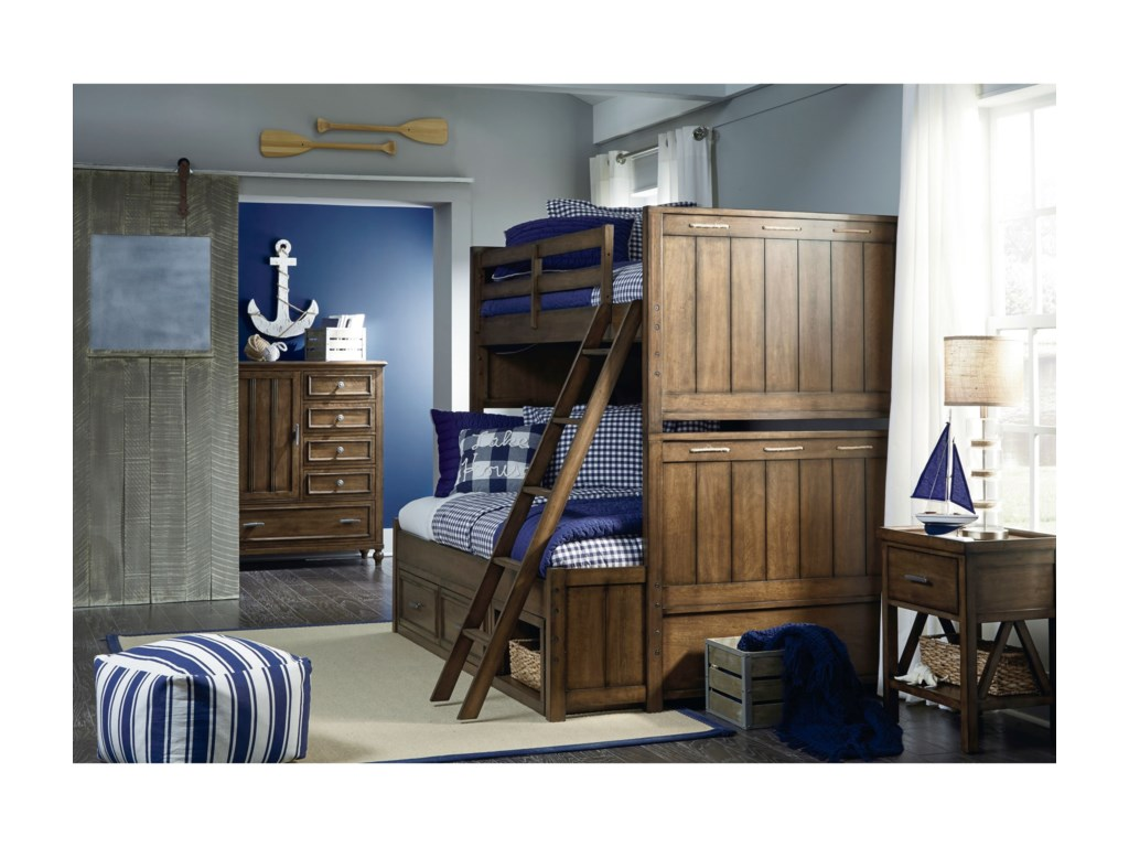 Legacy Classic Kids Lake HouseTwin-over-Full Bunk Bedroom Group