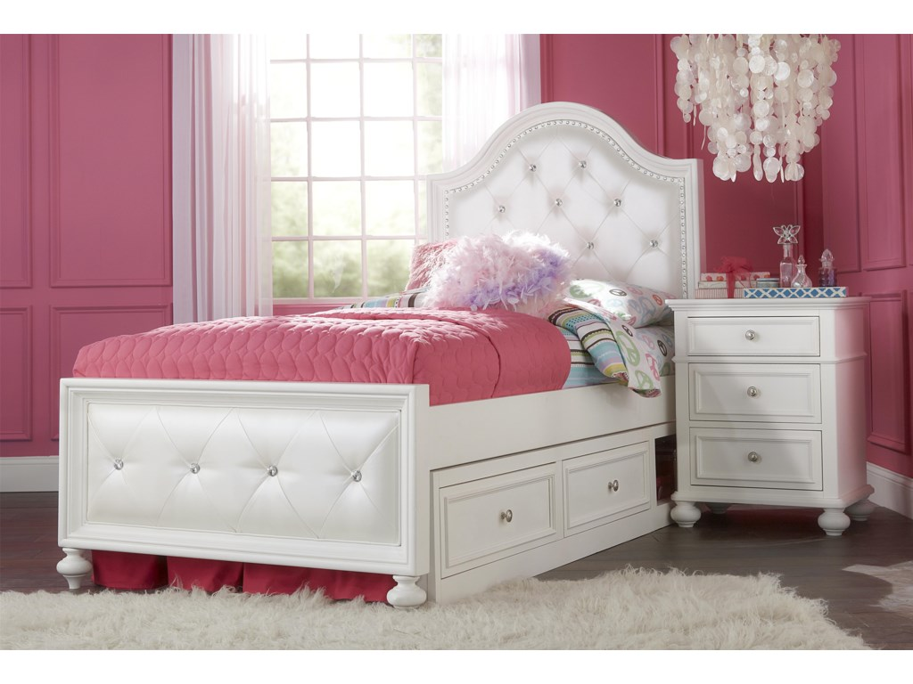 Legacy Classic Kids MadisonFull Upholstered Bed with Underbed Storage