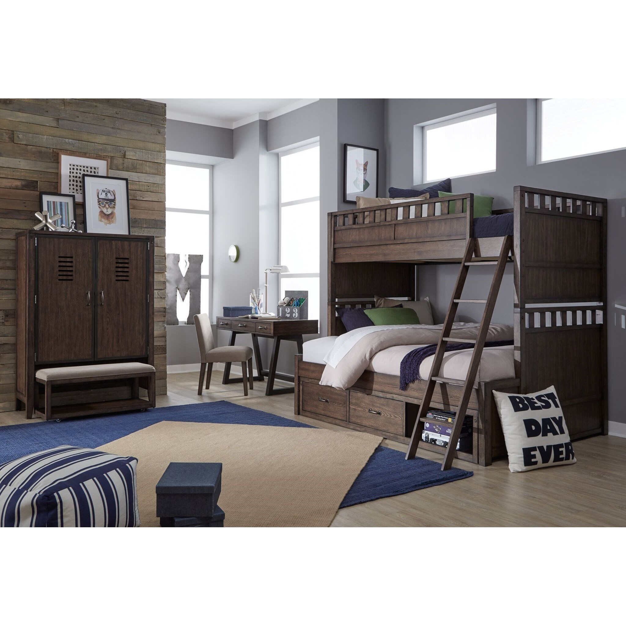 Gentil Legacy Classic Kids Sawyers MillFull Bedroom Group
