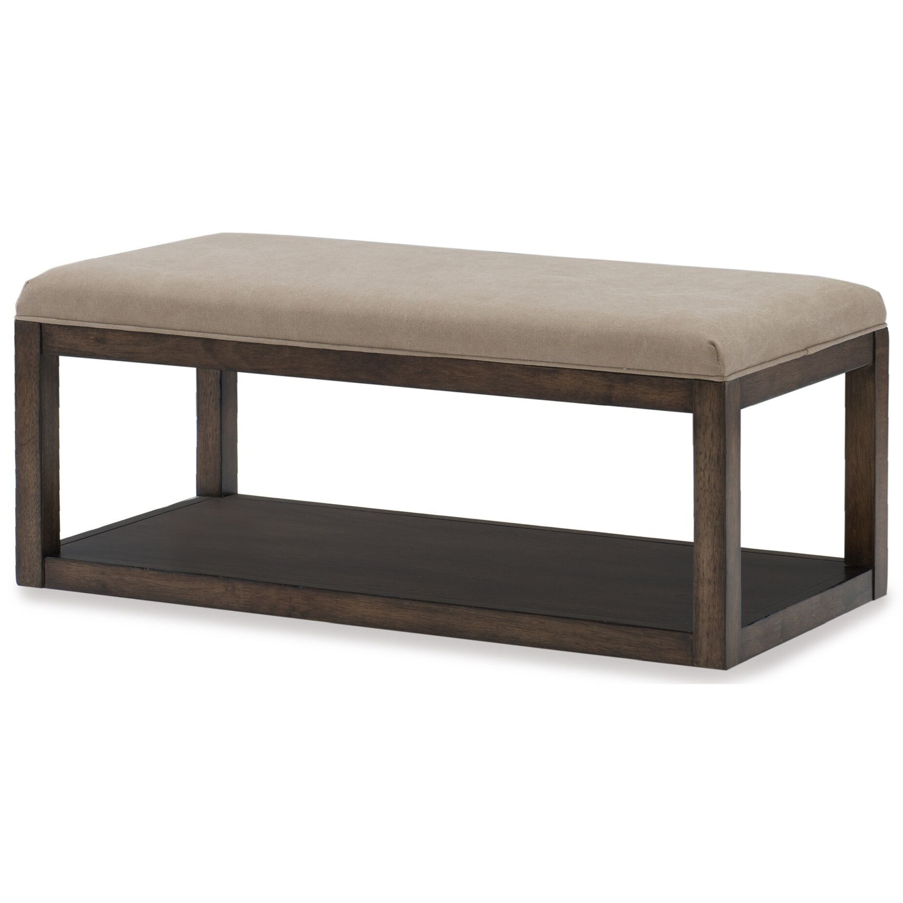 Legacy Classic Kids Sawyers Mill Upholstered Bench With Bottom Shelf