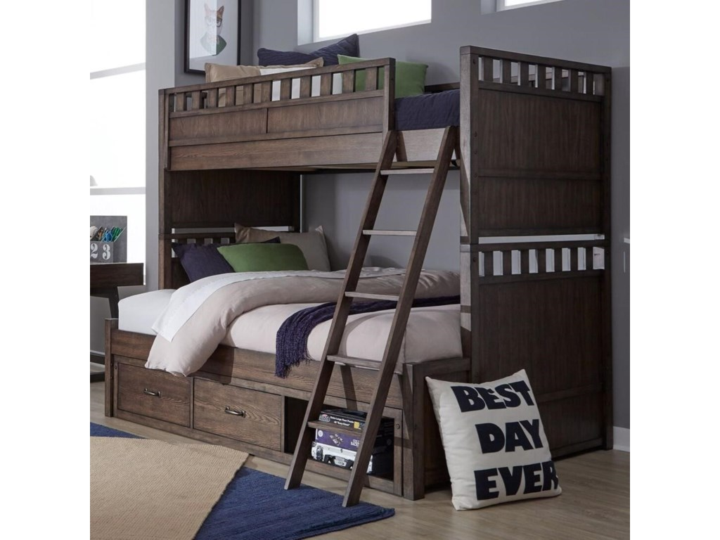 Legacy Classic Kids Sawyers MillTwin over Full Bunk Bed