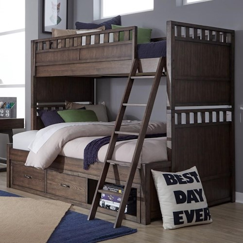 Legacy Classic Kids Sawyers Mill Twin Over Full Bunk Bed With