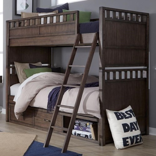 Legacy Classic Kids Sawyers Mill Twin Over Twin Bunk Bed With
