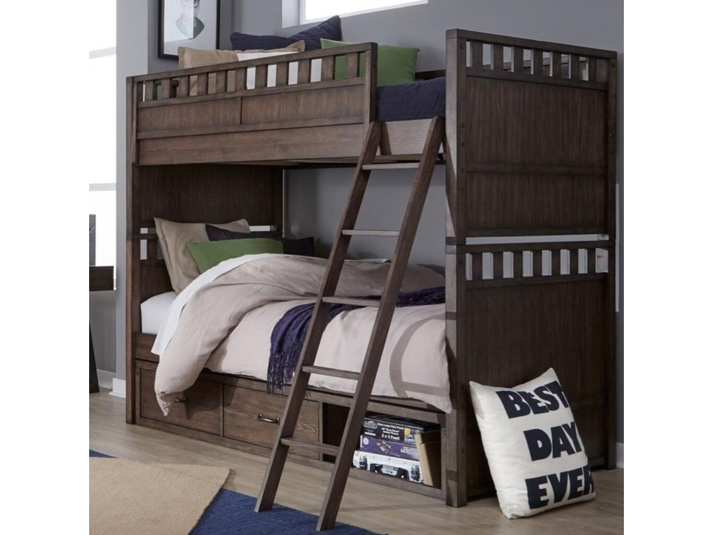 Legacy Classic Kids Sawyers MillTwin over Twin Bunk Bed