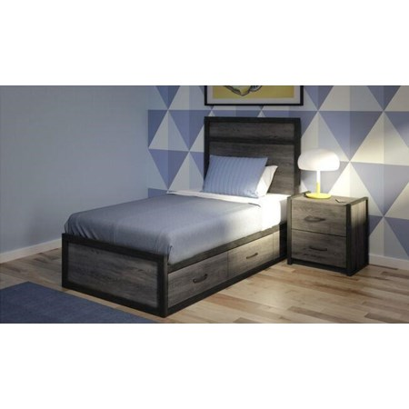 Spence Panel Bed -Twin