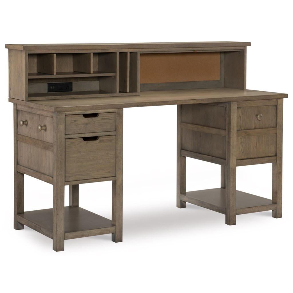 Legacy Classic Kids Study Hall Jr Executive Hutch Desk With Usb