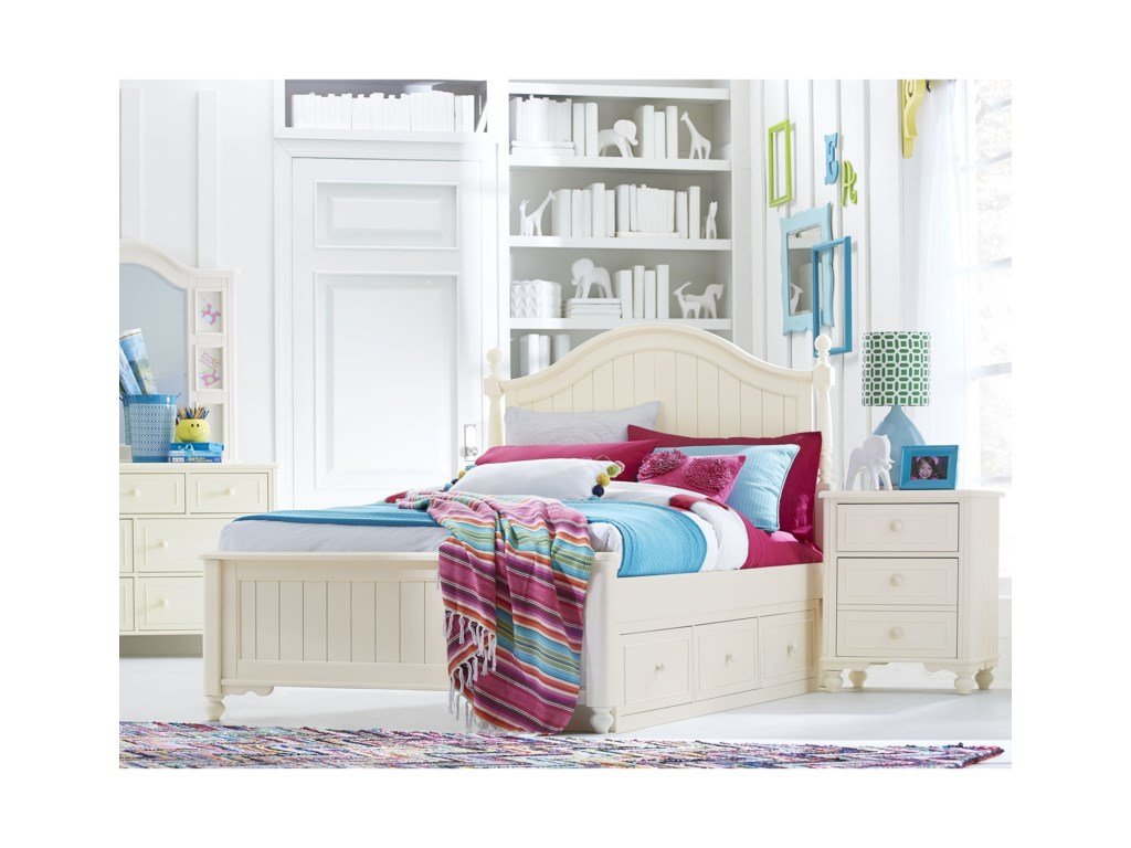 Legacy Classic Kids SummersetFull Low Poster Bed