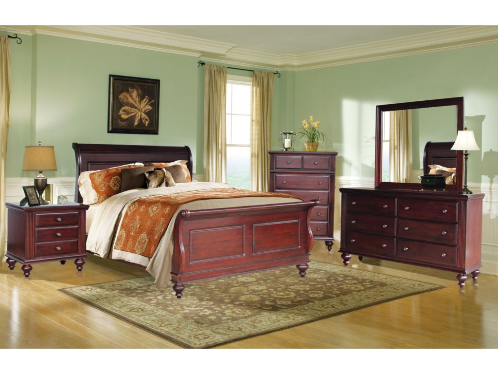 Shown with Nightstand, Bed, Chest & Dresser
