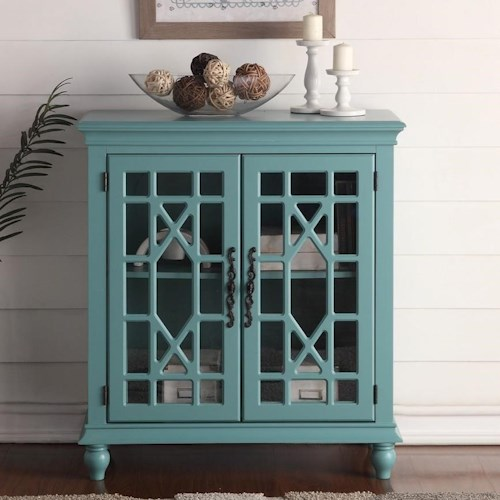Legends Furniture Anthology Meghan Blue Chest with Fretwork Doors