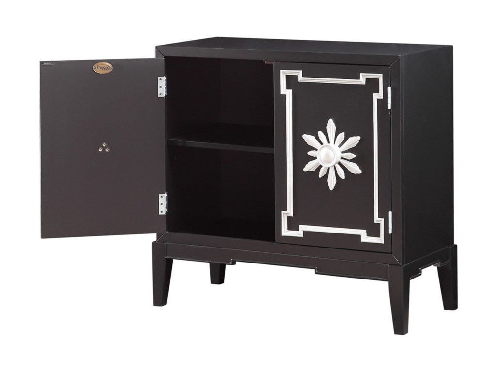 Legends Furniture AnthologyBlack and Silver Chest