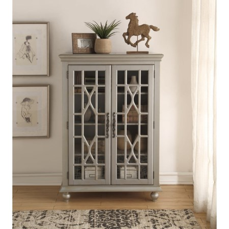 Meghan Tall Chest Antique Silver