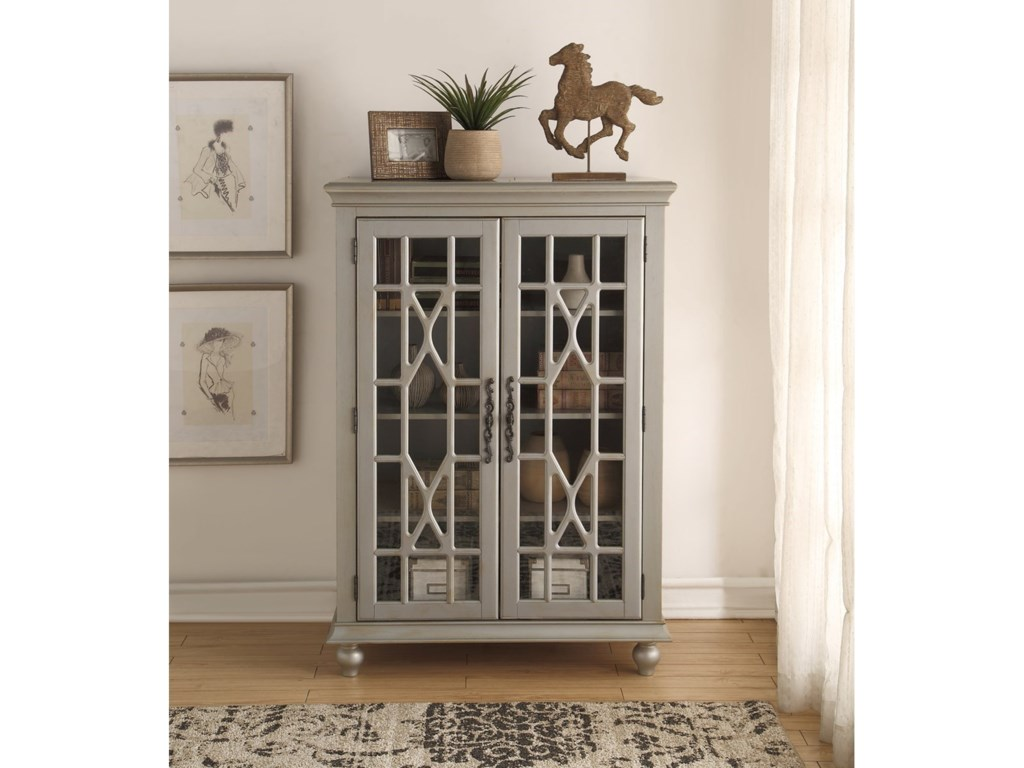 Legends Furniture AnthologyMeghan Tall Chest Antique Silver