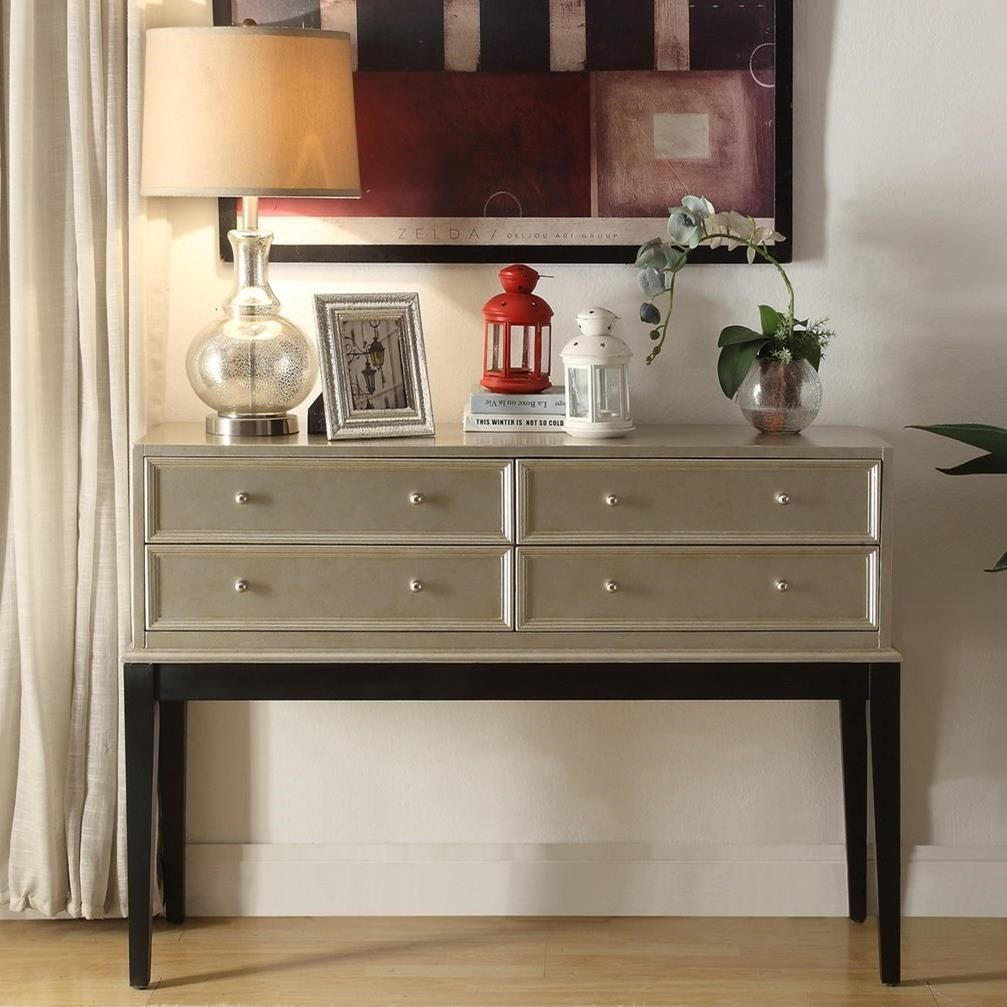 Legends Furniture AnthologyIrene Antique Silver Console Table