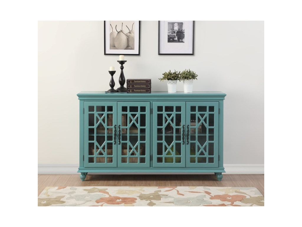 Legends Furniture AnthologyMeghan Blue 4-Door Chest