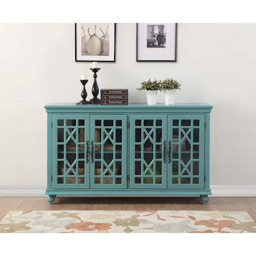 Legends Furniture Anthology Meghan Blue 4-Door Chest
