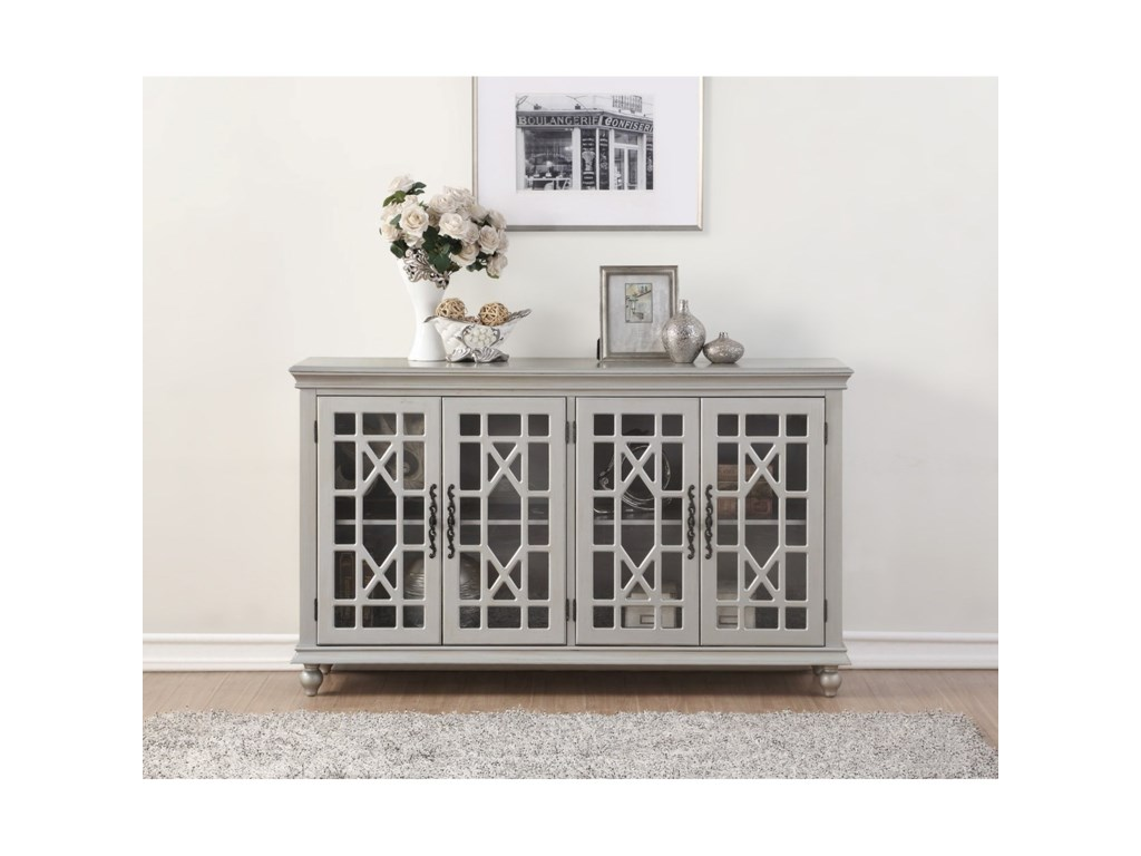 Legends Furniture AnthologyMeghan Silver 4-Door Chest