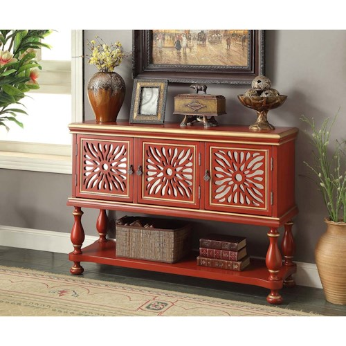 Legends Furniture Anthology Rosie Red Console