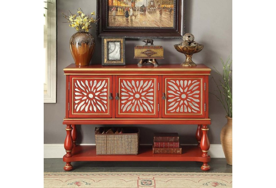 Anthology Rosie Red 3-Door Console by Legends Furniture at Dunk & Bright  Furniture