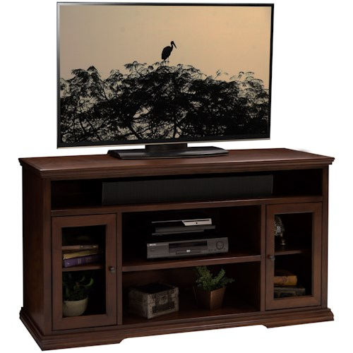 Legends Furniture Ashton Place 62-Inch Tall TV Cart with Door and Shelf Storage