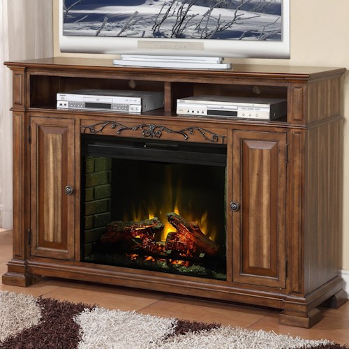 Legends Furniture Barclay Fireplace Media Center with 2 Doors and 2 Shelves