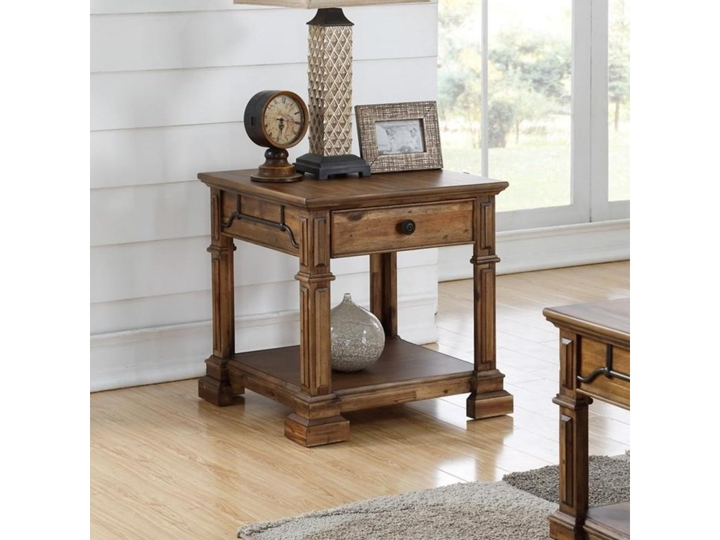 Legends Furniture Barclay Zbcl 4100 Traditional Square End Table