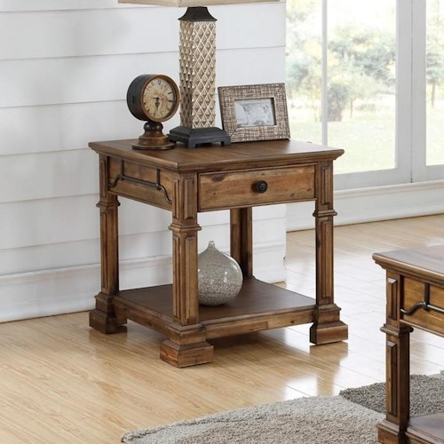 Legends Furniture Barclay Traditional Square End Table