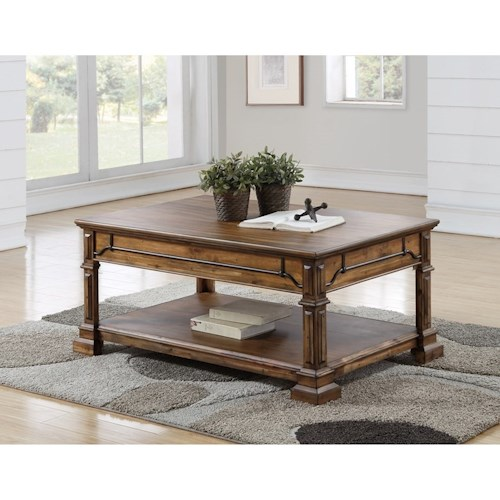 Legends Furniture Barclay Traditional Coffee Table