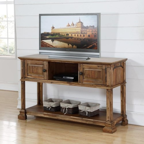 Legends Furniture Barclay Traditional Sofa Table with 2 Drawers